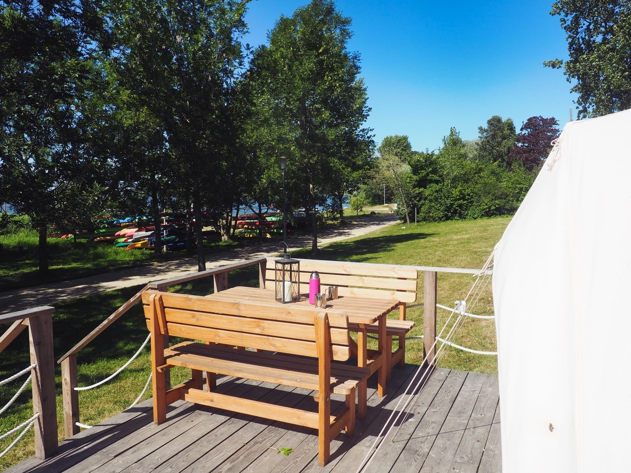 Glamping Terrasse Event Nature